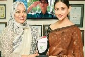 Actress Mehjabin recieved award from police